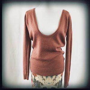 Zara Cashmere & Silk Scoop Neck Sweater EUC